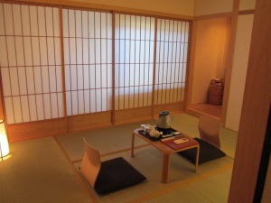 room at the Japanese inn