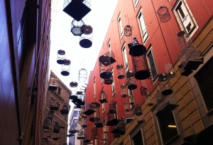 Bird cages in Angel Place, Sydney