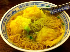 wonton noodle soup at Tsim Chai Kee