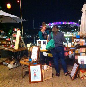 Night markets outside Lola Pergola's
