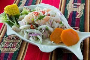 ceviche, a very Peruvian dish